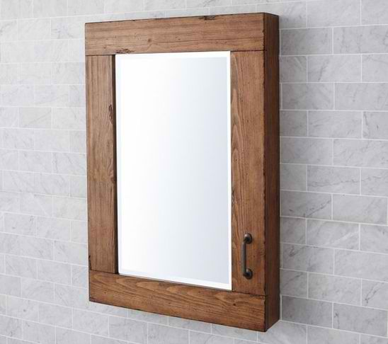 How to ship a wooden medicine cabinet how to ship for Wood bathroom medicine cabinets with mirrors
